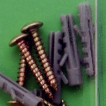 131塑膠壁虎附翼附螺絲4mm