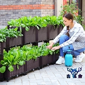 種菜長方形樓頂家庭陽臺塑料戶外槽蔬菜種植箱【古怪舍】