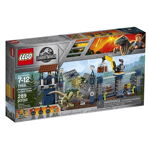 LEGO樂高 侏儸紀世界 Dilophosaurus Outpost Attack_LG75931