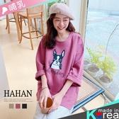 【HA6337】法鬥印圖 挺版棉長版哺乳衣
