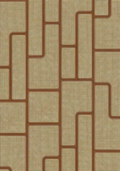 編織紋 藤編織圖案 木紋壁紙 仿真 荷蘭壁紙 5色可選 NLXL CANE WEBBING / ANGLE WEBBING VOS-06