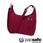 Pacsafe Citysafe CS100 休閒斜肩包-蔓越莓紅 側背包 旅遊 出國 防盜 20210310