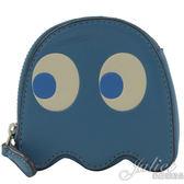 茱麗葉精品【全新現貨】COACH 73165 PAC-MAN聯名小精靈拉鍊零錢包.水藍