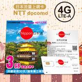 (免運費) EZ Nippon日本通 3GB上網卡 (自開卡日起連續使用30日) (購潮8)