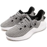 adidas 慢跑鞋 AlphaBounce Trainer 灰 黑 鯊魚腮 多功能訓練鞋 運動鞋 男鞋【PUMP306】 BB6949