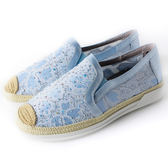 Clay Derman    草編手工網布休閒鞋-淺藍