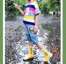 潮流時尚寶寶雨靴防水防滑塑膠雨鞋【橘社小鎮】