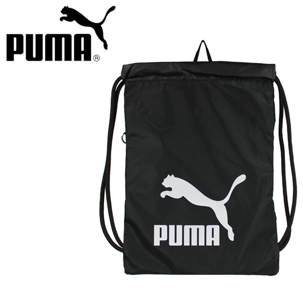 【橘子包包館】PUMA 束口袋/束口後背包 07481201 黑色