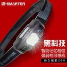 LED強光頭燈充電感應迷你夜釣魚頭戴式手電筒【步行者戶外生活館】