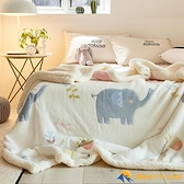 毛毯冬季加厚保暖珊瑚絨毯子法蘭絨床單鋪床【勇敢者戶外】