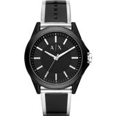 A│X Armani Exchange 廣告款 透視錶帶手錶-黑/44mm AX2629