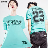 OUTER SPACE CITY Tiffany藍短T(男款)