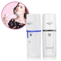 【鼎立資訊】USB充電便攜式 微分子噴霧 臉部補水保濕儀