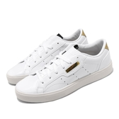 adidas 休閒鞋 Sleek W 白 金 小白鞋 經典款 百搭款 女鞋 【PUMP306】 FV3395