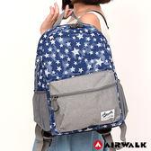 美國 AIRWALK - Blue star輕量親子後背包(大)-星星藍