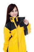 [東門城] M2R M2 雨衣 黑黃 二件式 魔鬼沾設計 背部反光條設計