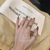 戒指 蹦迪戒指網紅ins潮小眾復古冷淡風開口可調節食指關節指環個性女 韓國時尚週 免運