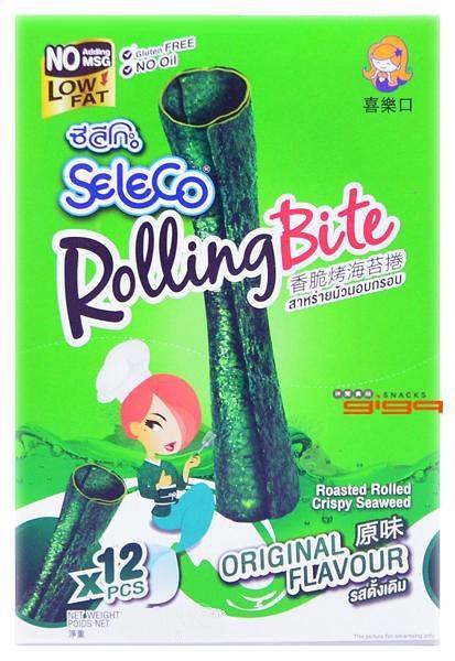 【吉嘉食品】SELECO香脆烤海苔卷/海苔捲(原味(微辣)) 1盒12條入,全素[#1]{8852116805220}