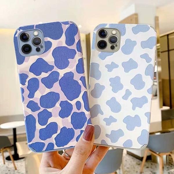 蘋果 iPhone12 iPhone11 Pro Max 12Mini 12Pro 紫色牛紋 i11 i12 手機殼 全包邊 保護殼