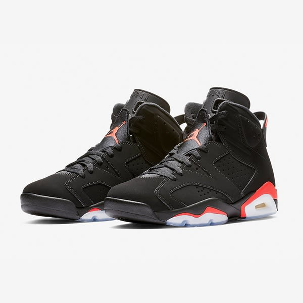 f87255347ef9  現貨折後9080 NIKE Air Jordan 6 Retro Infrared 黑紅紅外線經典