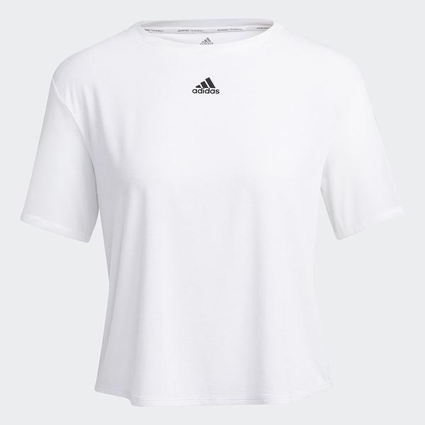 Adidas SEASONAL DANCE 女裝 短袖 訓練 健身 吸濕排汗 拼接網布 白【運動世界】GP6789
