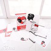 【Hello Kitty × NYA貓彩色便條本】Norns 便條紙 memo紙 便箋 KN聯名 日本黑貓咪三宅一生 正版授權