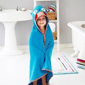浴袍 SKIP HOP 動物卡通造型純棉吸水帶帽兒童披帶帽浴袍斗篷寶寶浴巾