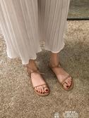 羅馬涼鞋女新款夏季綁帶時尚網紅仙女風百搭超火平底鞋潮聖誕交換禮物