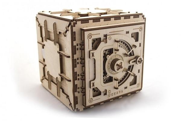 Ugears 保險箱 Safe puzzle 聽聲音開鎖 機械聯動 齒輪 神偷 聖誕 精美DIY交換禮物