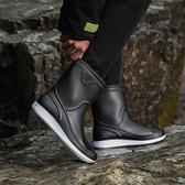 雨靴 冬季男士雨鞋中筒防滑時尚雨靴廚房工作鞋男洗車保暖水鞋釣魚膠鞋 維多原創