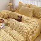 床包組 冬季加厚牛奶絨四件套雙面法萊珊瑚絨床上用品水晶法蘭絨床單被套