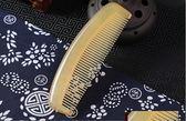 黃牛角梳子大號家用天然防靜電純檀木梳子