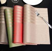 餐桌墊歐式PVC西餐墊隔熱墊碗墊子家用耐熱北歐餐布盤墊【極簡生活館】