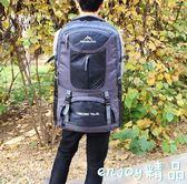 50/65升超大容量戶外登山徒步旅行多功能雙肩背包男75L行李背包女  enjoy精品