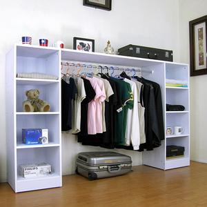 【頂堅】(單桿+八格)吊衣櫃-寬200x深40x高121公分-素雅白色素雅白色