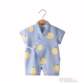 新生純棉紗布連體衣夏和尚服嬰兒初生寶寶睡衣夏季薄款衣服空調服 布衣潮人