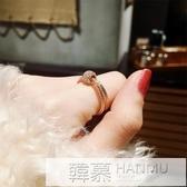 旋轉戒指女日韓國冷淡風潮人尾戒學生個性指環時來運轉網紅食指戒 韓慕精品