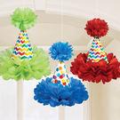 彩球吊飾3入-歡樂彩虹