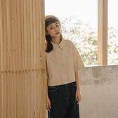 Queen Shop【01024035】撞色車線單口袋短版襯衫 兩色售 S/M*現+預*