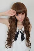 【WASSK】 W2091 新款實拍長捲髮齊瀏海修臉蓬鬆全頂式高溫耐熱絲韓式假髮