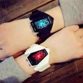 手錶 韓版中學生led炫酷七彩夜光電子飛機錶女孩兒童多功能運動手錶男
