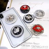 聖誕禮物氣囊支架氣囊收縮支架oppo蘋果iphone華為小米vovi手機水鉆支架韓 曼莎時尚
