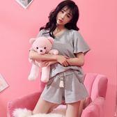 睡衣女夏純棉短袖韓版寬鬆清新學生兩件套夏季可愛全棉家居服套裝  莉卡嚴選