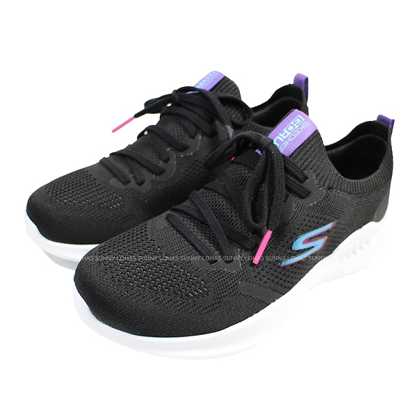 (B9) SKECHERS 女鞋 GORUN MOJO 2.0 慢跑鞋 套入式 128145BKPR 黑白 [陽光樂活]