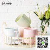 馬克杯 西芙簡約創意馬克杯子歐式陶瓷牛奶杯咖啡杯水杯對杯情侶杯大容量 歐歐流行館