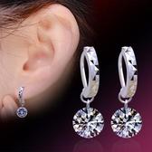 女天然鋯石裸鑽耳環氣質 韓版鍍銀耳飾品耳墜《小師妹》ps309