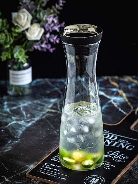 日式冷水壺涼水壺玻璃水壺耐熱防炸耐高溫家用大容量涼水杯 淇朵市集
