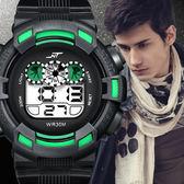 戶外運動防水手錶男青少年電子錶時尚潮流LED夜光學生多功能男錶 免運
