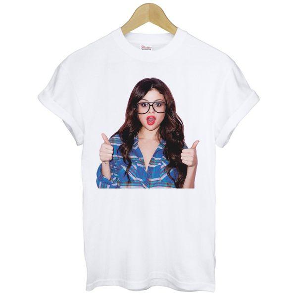 Selena Gomez短袖T恤 白色 席琳娜 魔法少女 歌手 音樂 搖滾 390