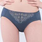 思薇爾-慕戀系列M-XXL蕾絲中腰三角內褲(漸層灰)